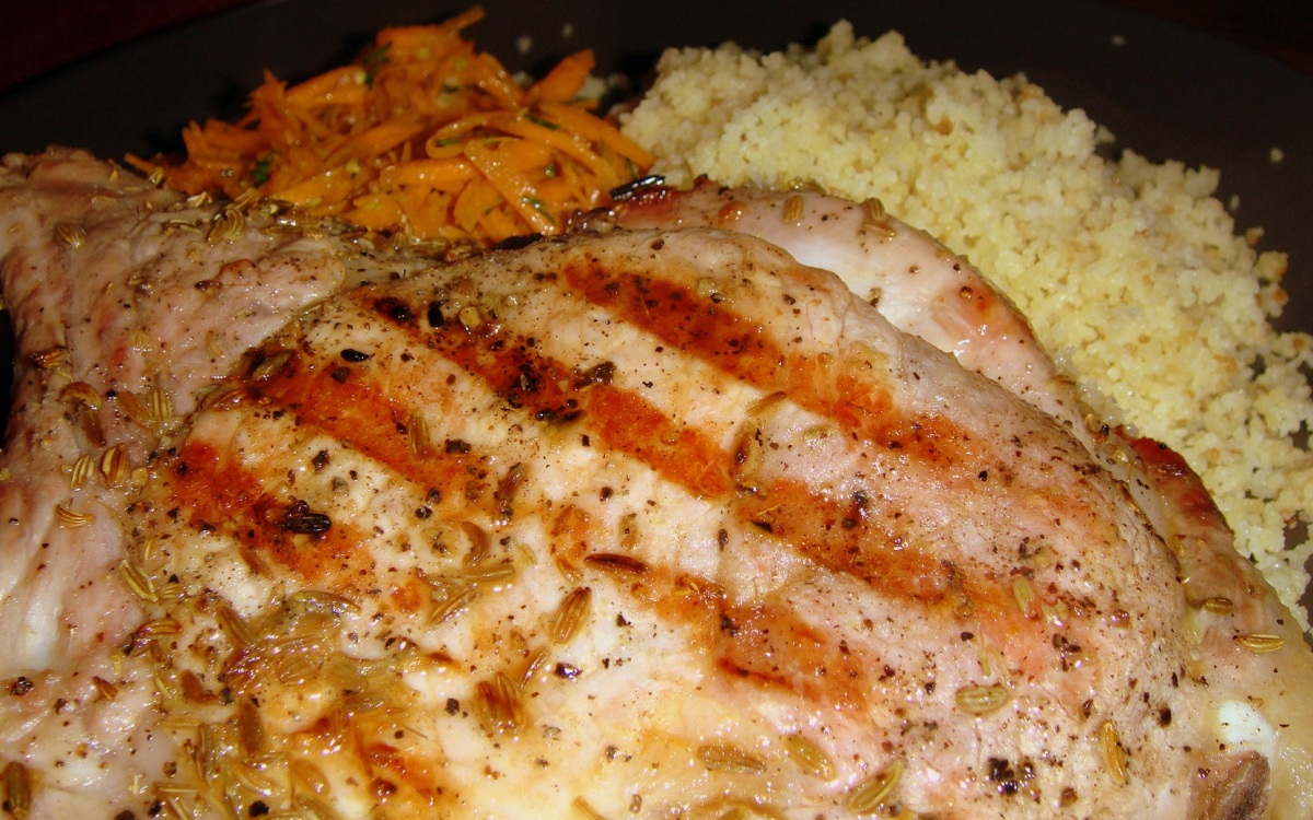 Grilled Fennel-Crusted Pork Chops with Carrot Salad ...